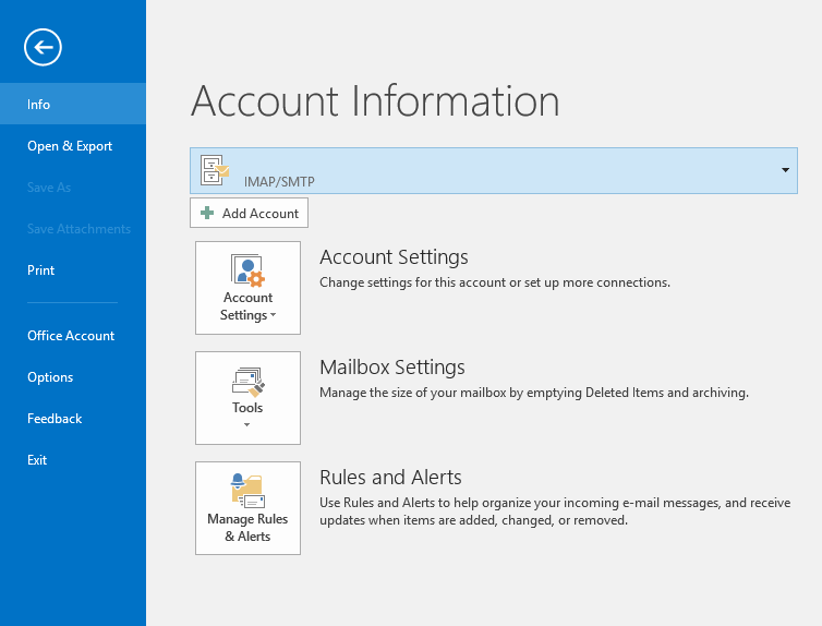 how to connect outlook 2016 to my outlook.com mail account