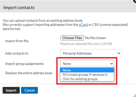 Import Group Assign